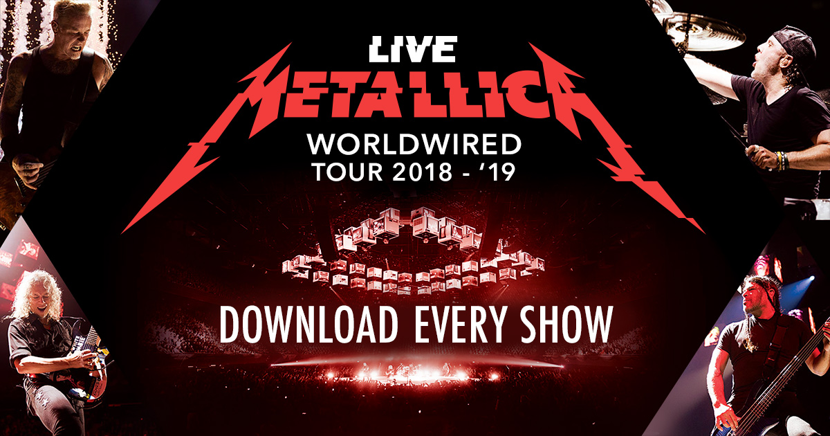 Metallica Live Concert Downloads, Streaming and CDs