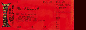 Live Metallica || 5/1/2004 - US Bank Arena, Cincinnati, OH