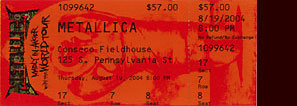 Live Metallica || 8/19/2004 - Conseco Fieldhouse, Indianapolis, IN