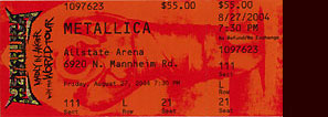 Live Metallica || 8/27/2004 - Allstate Arena, Chicago, IL