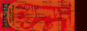 Live Metallica || 11/6/2004 - Office Depot Center, Ft. Lauderdale, FL
