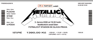 Live Metallica || 6/3/2008 - Slavia Stadium, Prague, CZE