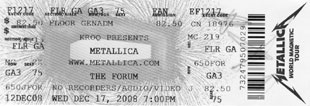Live Metallica || 12/17/2008 - The Forum, Los Angeles, CA