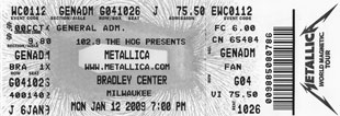 Live Metallica || 1/12/2009 - Bradley Center, Milwaukee, WI