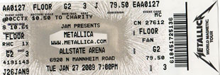 Live Metallica || 1/27/2009 - Allstate Arena, Chicago, IL