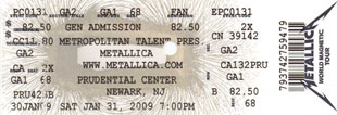 Live Metallica || 1/31/2009 - Prudential Center, Newark, NJ