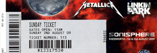 Live Metallica || 8/2/2009 - Knebworth House - Sonisphere, Stevenage, GBR
