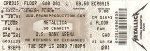 Live Metallica || 9/15/2009 - US Bank Arena, Cincinnati, OH
